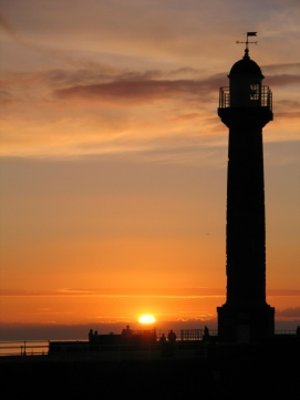 Sunset over Whitby Lighthouse